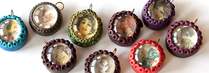 Polymer Clay & Marble Picture Pendant Tutorial
